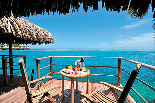 Moorea_deck - Decked out with eye candy: The Paul Gauguin's itinerary includes a trip to the InterContinental Resort Moorea.