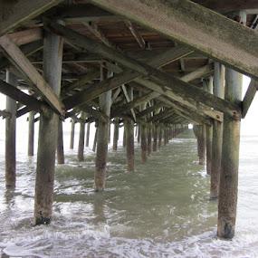 Under the Pier by Patrick Jones - Buildings & Architecture Bridges & Suspended Structures ( pier, ocean, beach, myrtle beach )