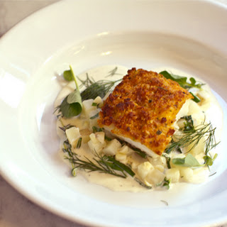 Stefan's Potato Crusted Cod Over Ragout