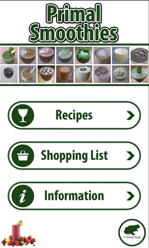 Primal Smoothies- screenshot