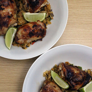 Super Sticky Ginger And Soy Chicken Thighs.