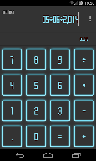 Calculator SAO Theme