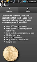Screenshot of Coin Values Coin Prices