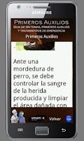 Screenshot of Primeros Auxilios de lujo