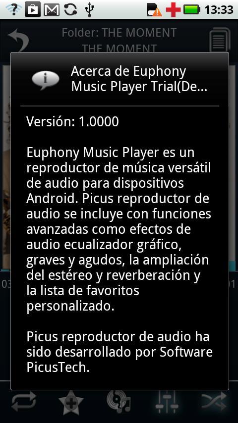 Spanish Language - Euphony MP - screenshot