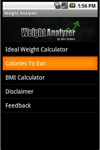 Weight Analyzer - screenshot