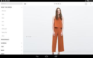 Screenshot of Zara