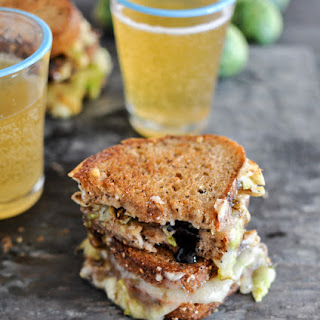 Balsamic Brussels Sprouts Grilled Cheese.