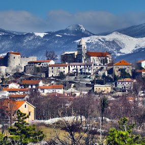 Grad Grobnik, HR by Slavko Marčac - City,  Street & Park  Historic Districts ( mountains, winter, castle )