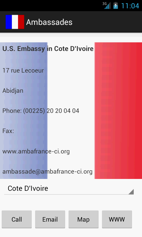 Ambassades de France- screenshot