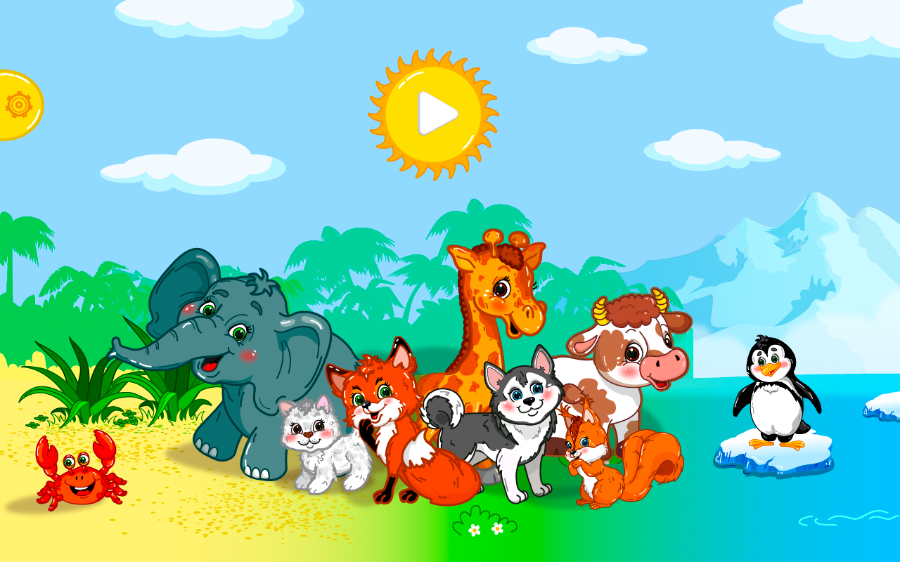 animal puzzles lite for kids screenshot