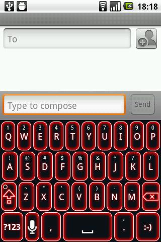 Glow Legacy Red Keyboard Skin - screenshot