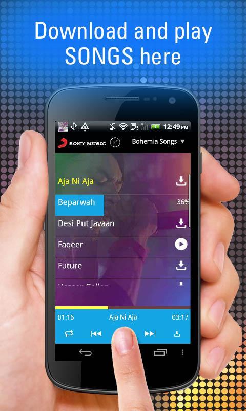Bohemia Songs- screenshot