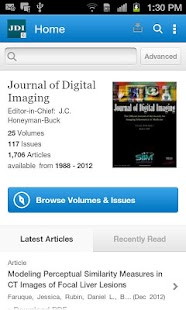 Journal of Digital Imaging - screenshot thumbnail