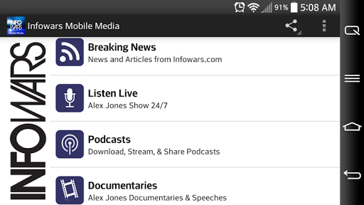 Infowars Media Mobile app (apk) free download for Android/PC/Windows screenshot