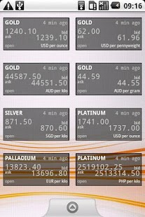 Precious Metals Price Widget - screenshot thumbnail