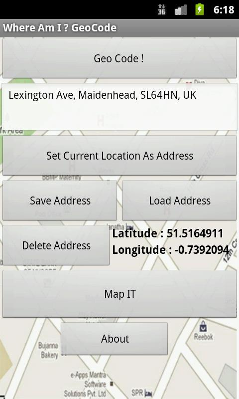 Where Am I ? GeoCode- screenshot