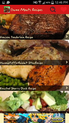 Game Meats Recipes