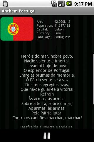 National Anthem Portugal- screenshot
