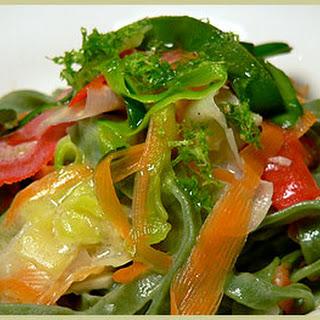 Tagliatelles and Vegetable Peels — Tagliatelles Aux Pelures De LéGumes Recipe
