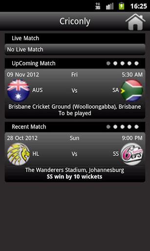 Criconly Cricket Scores News