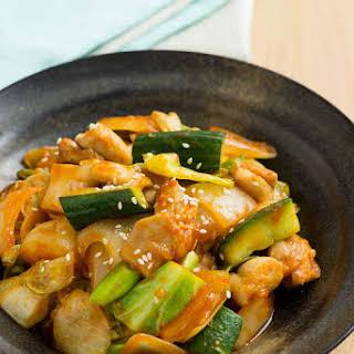 Korean Chilli Chicken Stir Fry.