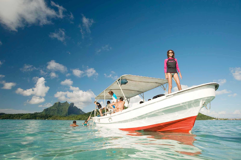 Spend the day on Bora Bora boating and snorkeling.