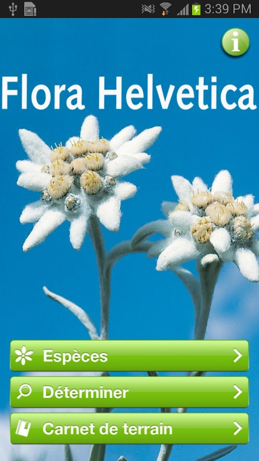 Flora Helvetica Mini français - screenshot