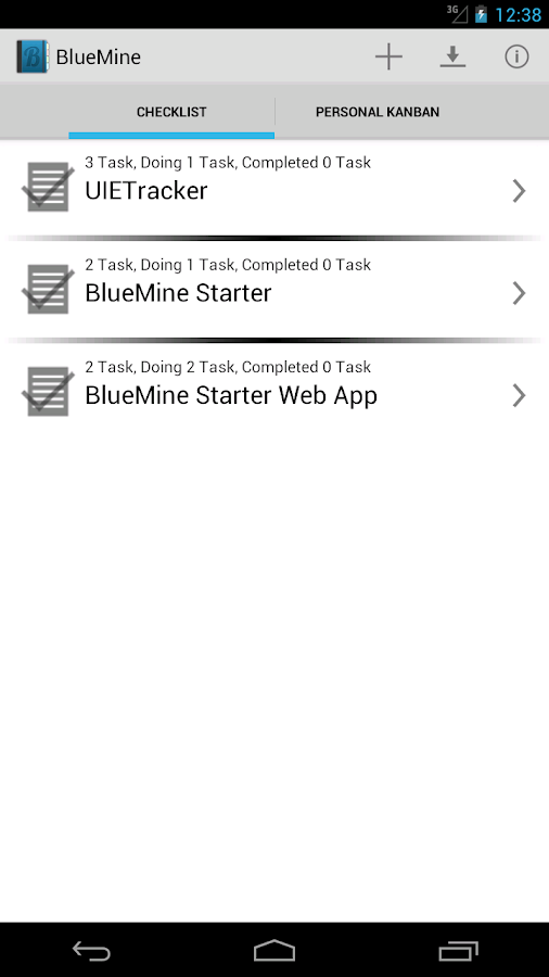 BlueMine Starter - screenshot