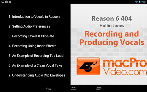 Reason 6 - Recording Vocals - screenshot thumbnail
