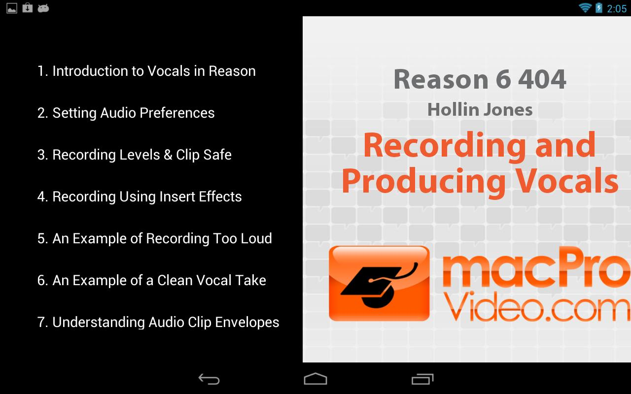 Reason 6 - Recording Vocals - screenshot