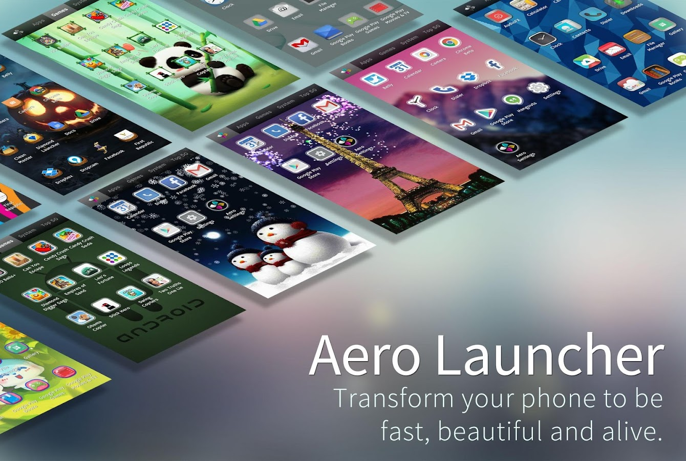 Aero Launcher - Live Wallpaper- screenshot