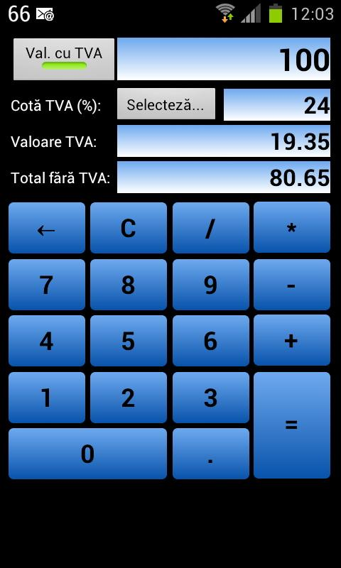 Calculator TVA- screenshot