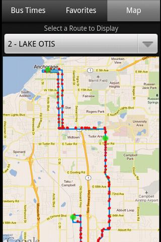 Anchorage Bus Times- screenshot