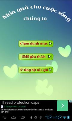 SMS Kute - Yêu thương mỗi ngày - screenshot