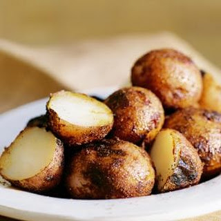 Grilled New Potatoes with a Red Pepper Crust