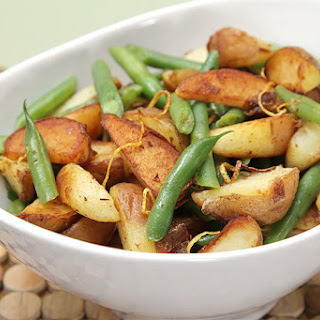 Sautéed Haricots Verts With Baby Red Potatoes And Lemon Zest