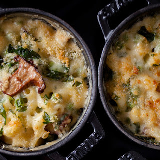 Macaroni & Cheese with Peas and Chanterelles