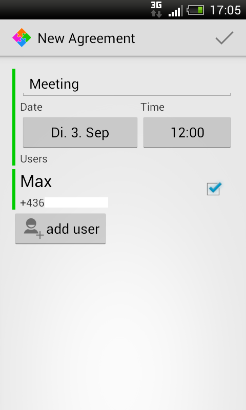 Group Scheduler - screenshot