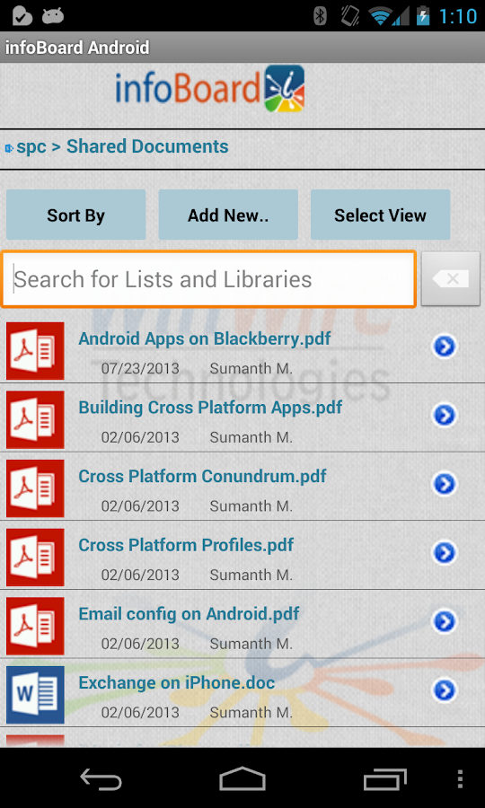 SharePoint infoBoard Basic - screenshot