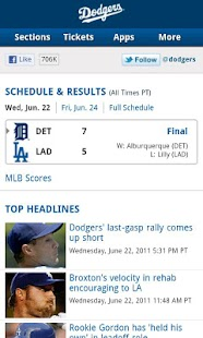 Download Android App Los Angeles Dodgers com Link for