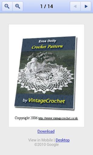 Eros Doily Crochet Pattern