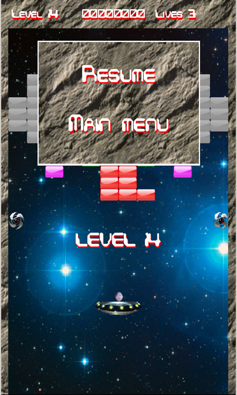 Arkasteroid(Arkanoid Asteroid)- screenshot
