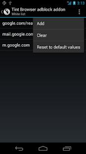Tint Browser Adblock addon