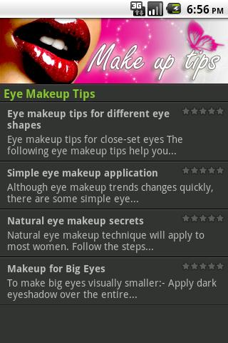 Make up Tips - screenshot