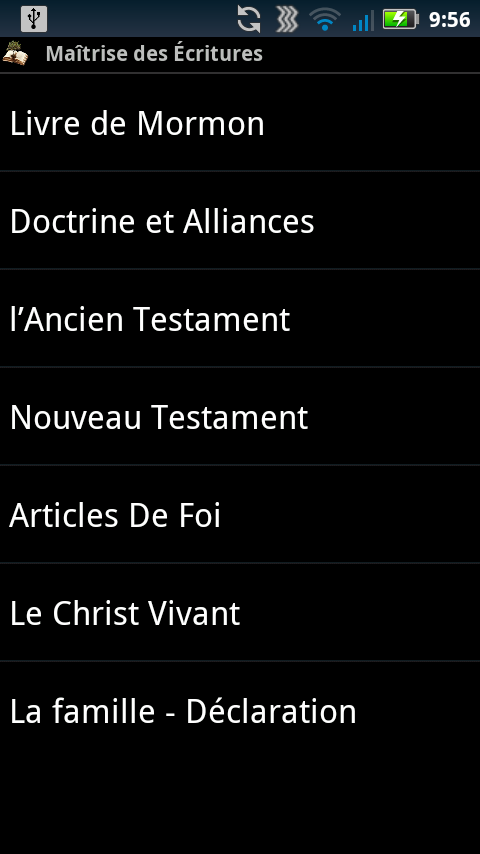 Scripture Mastery App (Fra)- screenshot