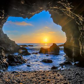 Dana Point, CA by Ed Mullins - Landscapes Sunsets & Sunrises ( dana point, sunset, california, cave )