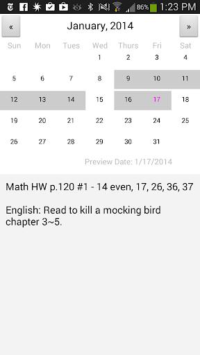 Homework Schedule Planner
