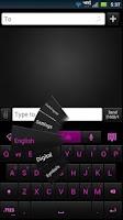 Screenshot of GO Keyboard Shadow Pink Theme
