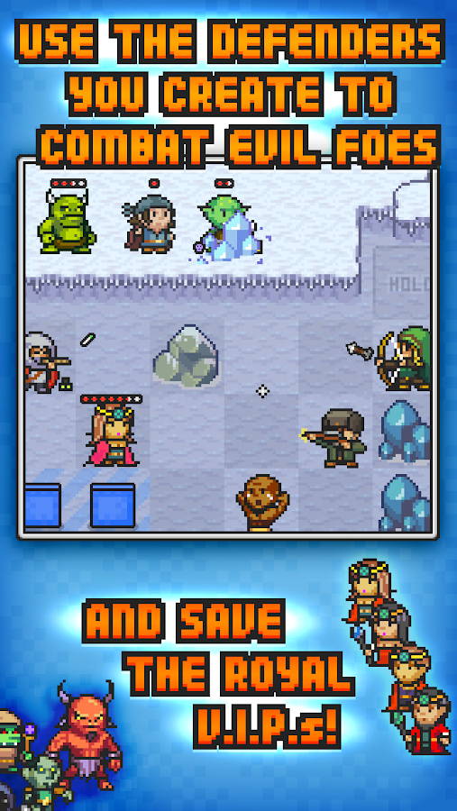 Pixel Defenders Puzzle- screenshot